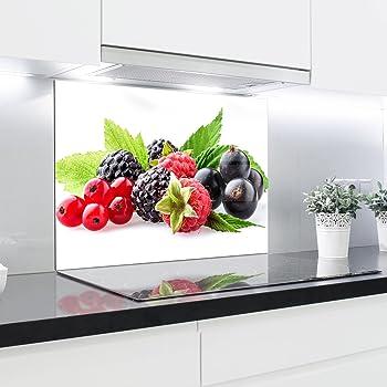 Cuisine Dosseret en verre Imprim/é Panneaux r/ésistant /à la chaleur en verre tremp/é 90/x 65/cm