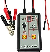 Automotive Fuel Injector Tester, 12V 4 Pulse Modes, Handheld Car Vehicle Fuel Pressure System Diagnostic Scan Testing Tool Gauge, Individual Test Stuck/Leaking/Burnt-out Problem