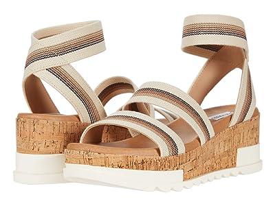 Steve Madden Bandi Wedge Sandal (Beige Multi) Women
