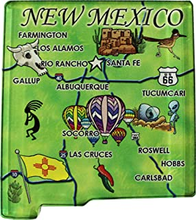 New Mexico - Acrylic State Map Refrigerator Magnet