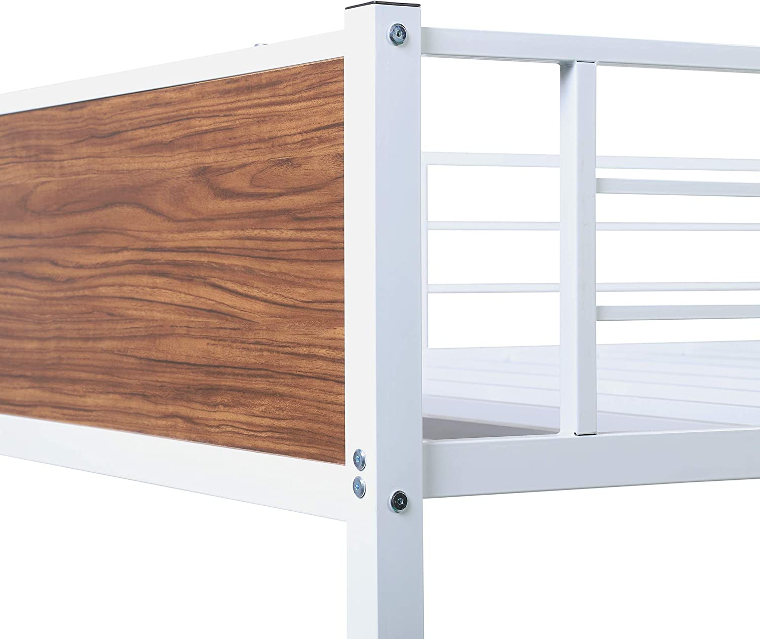 Buy P Purlove Full Over Full Bunk Bed Metal Bunk Bed Steel Frame Bunk Bed With Full Guardrail Bed Frame With Built In Ladder For Bedroom Dorm Boys Girls Online In Indonesia B08pprltld