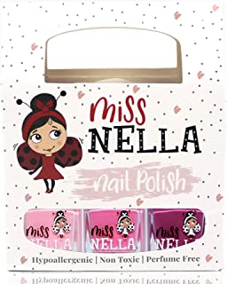 Miss Nella SWEET LITTLE PACK, Nail Polish Set-Easy Pell off And Water Based Formula, 3 Colors of Nail Glitter set- Cheeky ...