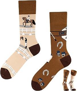 TODO COLOURS - Calcetines de equitación con diseño de caballos, multicolor
