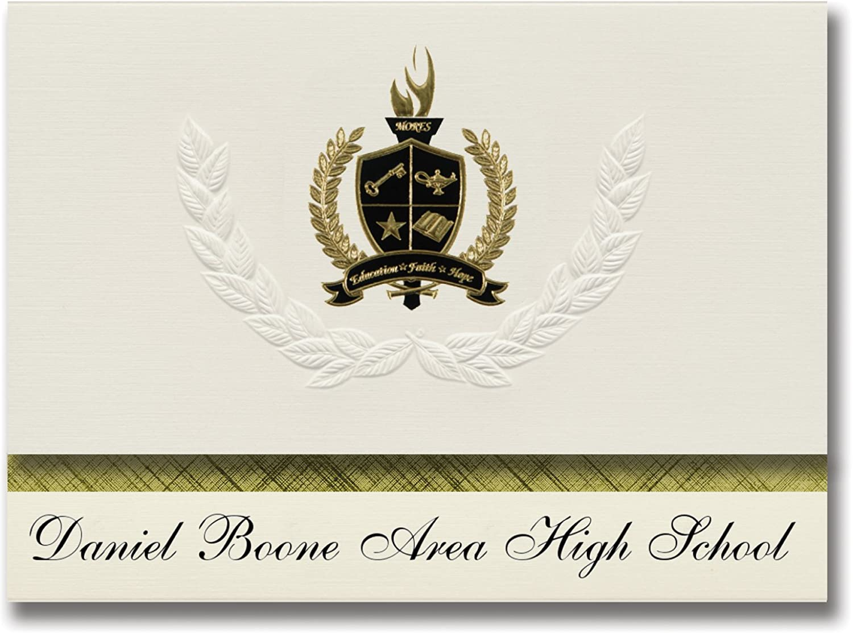 Signature Ankündigungen Daniel Boone Bereich High School (birdsbGold, PA) Graduation Ankündigungen, Presidential Stil, Elite Paket 25 Stück mit Gold & Schwarz Metallic Folie Dichtung B078VDMRR9   |