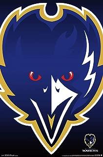 Trends International NFL Baltimore Ravens-Logo Clip Wall Poster, 22.375