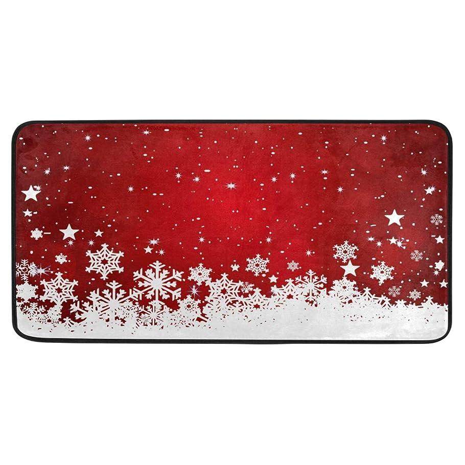 コーチお金経度SoreSore キッチンマット 洗える 滑り止め 台所マット バスマット ラグ カーペット 玄関 北欧 おしゃれ 赤 レッド クリスマス かわいい 可愛い 吸水 長方形 柔らか 丸洗い 台所用 インテリア 新居祝い プレゼント 99x50cm
