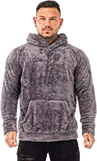 GINGTTO Men's Fuzzy Sherpa Lined Sweatshirt Fashion Pullover Fleece Hoodies