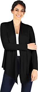 Simlu Womens Open Drape Cardigan Reg and Plus Size Cardigan Sweater Long Sleeves - USA