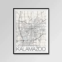 Les Connie Kalamazoo Michigan Map Kalamazoo City Map Print Kalamazoo Map Poster Kalamazoo Wall Art Gift Custom City Western Michigan University