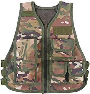 Thur amo Kids Tactical Vest Breathable Adjustable Waistcoat Outdoor Hunting Combat Games
