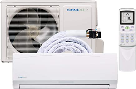 ClimateRight CR12000SACH Super Quiet Mini-Split Air Conditioner with Heat Pump and Dehumidifier - 12000
