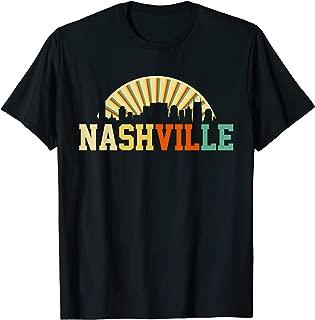 Vintage Nashville T-Shirt Skyline Retro Tennessee Shirt T-Shirt