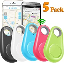 GBD 5 Pack GPS Tracker Smart Key Finder Locator for Kids Boys Girls Pets Key Wallet Car Dog Cat Bag Luggage Phone Alarm Sensor Anti Lost Selfie Shutter Wireless Seeker Holiday Birthday Gifts