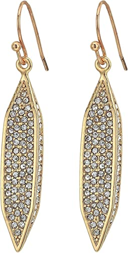 Hidden Details Pave Linear Drop Earrings