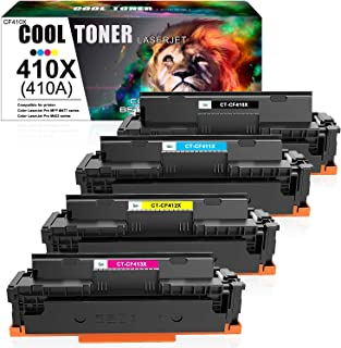Best Cool Toner Compatible Toner Cartridge Replacement for HP 410X 410A CF410A HP Color Laserjet Pro MFP M477fnw M477fdw M477fdn M452dn M452dw M452nw M477 M452 Toner Ink (Black Cyan Yellow Magenta, 4-Pack) Review
