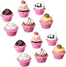 Adorox 12pc Scented Novelty Cupcake Lip Gloss Lip Balm Makeup Girls Birthday Party Favors