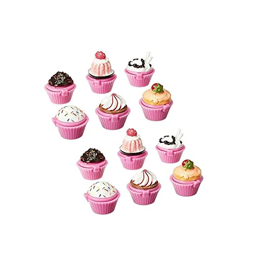 Adorox 12pc Scented Novelty Cupcake Lip Gloss Lip Balm Makeup Girls Birthday  Party Favors d62f5443a064a