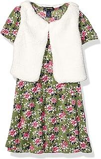 طقم فستان بأكمام قصيرة من الفرو الصناعي للفتيات من Limited Too