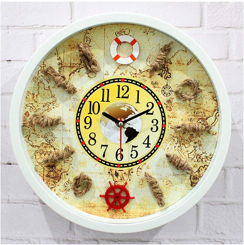 marcas de moda Relojes Relojes Relojes de parojo Relojes de parojo Sin tictac Operado a batería Mediterráneo Europeo Creativo Decorativo Decorativo Sala de estar Dormitorio silencioso Cocina Reloj de cuarzo de 12 pulgadas Reloj  Tu satisfacción es nuestro objetivo