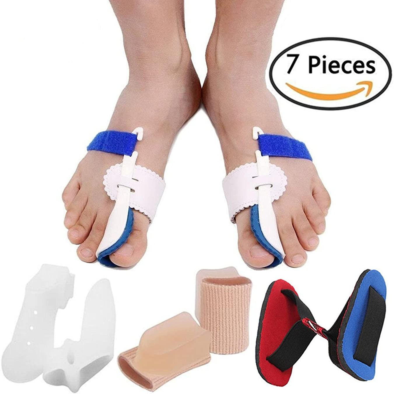 水陸両用タフ超えるBunion Corrector Bunion Relief Protector Sleeves Kit, Big Toe Corrector Straightener Separator Treat Pain in Hallux Valgus, Big Toe Joint, Hammer Toe, Splint Aid Surgery Treatment