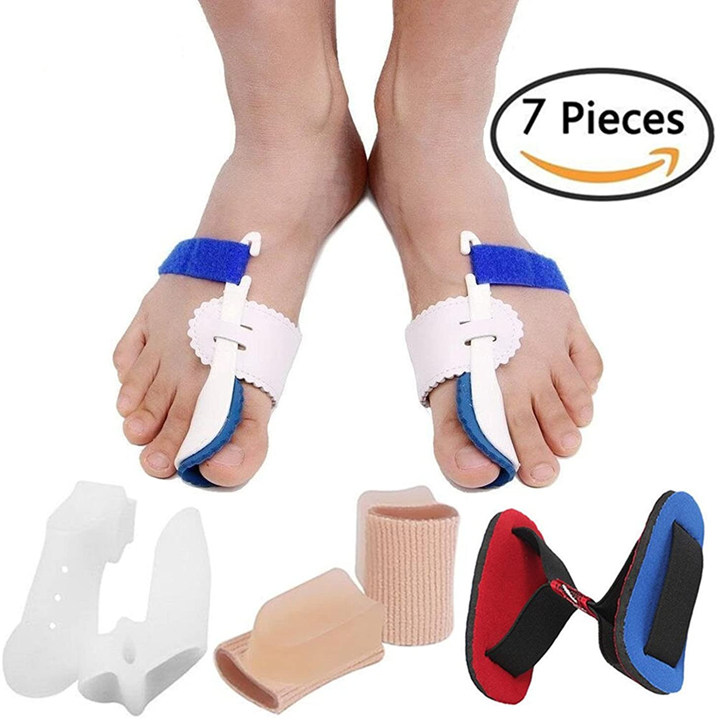 デッキ演じる腹Bunion Corrector Bunion Relief Protector Sleeves Kit, Big Toe Corrector Straightener Separator Treat Pain in Hallux Valgus, Big Toe Joint, Hammer Toe, Splint Aid Surgery Treatment