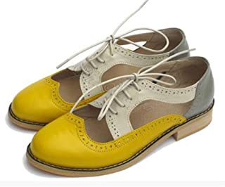 Big Size 33-47 New Hollow Shoes Women Trendy Style Color Matching Vintage Oxford Shoes for Women