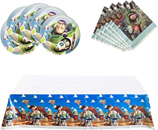 Party Nice Toy Story Party Supplies, 18 plates, 20 napkins and 1 tablecloth
