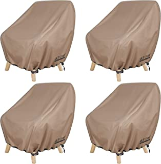 ULTCOVER Waterproof Patio Chair Cover – Outdoor Lounge Deep Seat Single Chair Cover 4 Pack Fits Up to 28L x 30W x 32H inches