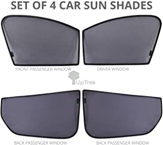 4 Pack Custom Fit Car Sun Shades for Side Windows Original Equipment Manufacturer (OEM) with UV Protection Compatible with...