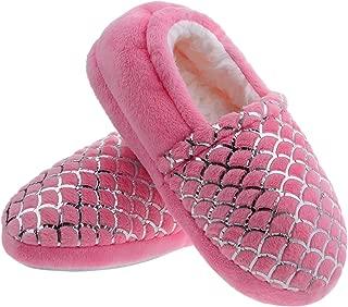 Shoeslocker Unisex Little Kids Warm Plush Slippers