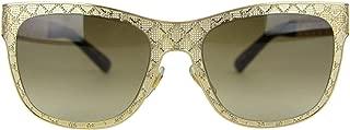 Gucci Women's Mesh Gold Brown Metal/Plastic Cat Eye Sunglasses GG 4266/S J5GJD 375746 8663