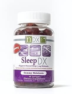 Sleep DX, Gummy Vitamin, Sleep Support, Supplement, Melatonin Gummies, Supports Natural Sleep, Gluten Free, Vegan, All Natural Ingredients (120)