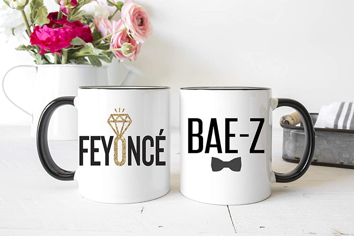 Pretty Phoxie Feyonce Bae Z Engagement Gifts Fiance Gift Feyonce Bae Z Mugs Engaged Couple Mugs Bride To Be Future Mrs