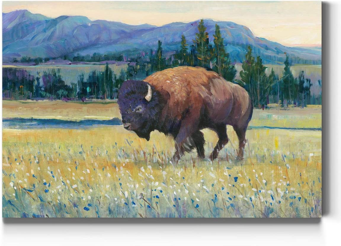 store Renditions Gallery Bison trend rank and Mountain Wall L Art American