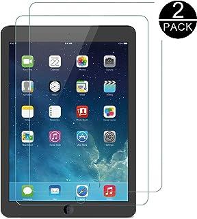 TECHKUN - Protector de Pantalla para Apple iPad Air (Modelo de 9,7 Pulgadas, Modelo de 2018/2017), iPad Air 1, iPad Air 2, iPad Pro de 9,7 Pulgadas, Vidrio Templado
