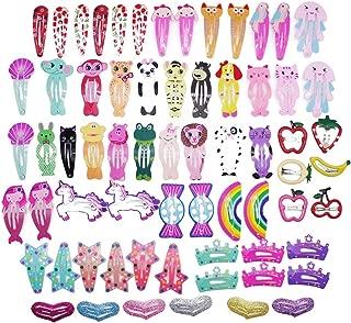 66 Pcs Hair Clips Animal Pattern Print Girls' Metal Snap Hair Clips Hair Barrettes hairpins Hair Accessories for Girls Teens Women