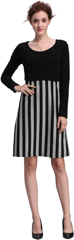 Maramita Women's 2 Piece Nursing Dress with Sweater Top