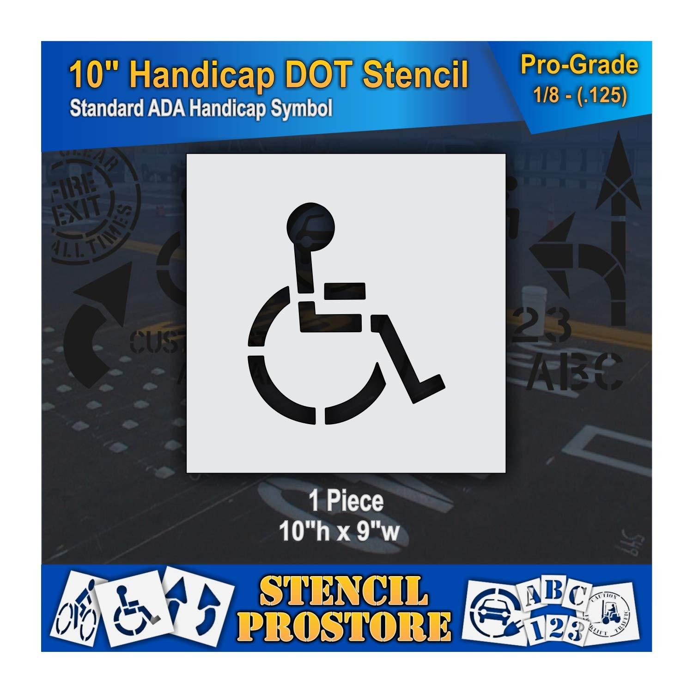Seattle Mall Pavement Stencils - Popular brand 10 inch Handicap 10