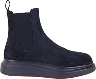 Luxury Fashion | Alexander Mcqueen Men 586198WHXK24100 Blue Suede Ankle Boots | Spring-summer 20