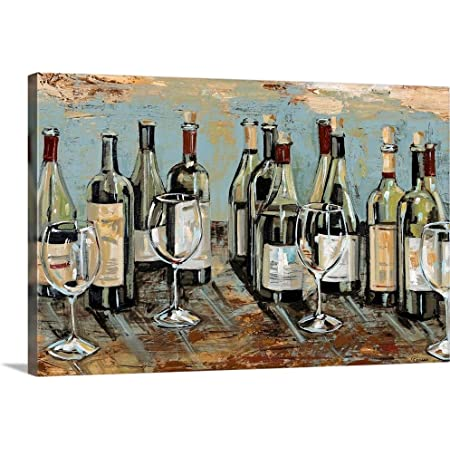 Amazon Com Portfolio Canvas Decor Wine Cellar Ii By Bridges Wrapped Stretched Canvas Wall Art 24 X 24 Posters Prints