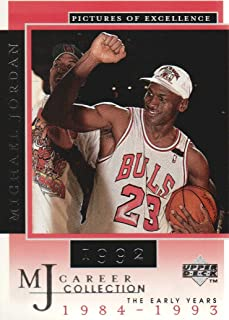 dc48a86deca 1998 Upper Deck Michael Jordan Career Collection #4 Michael Jordan Pictures  of Excellence 1992