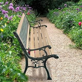 tidyard Banco de Jardín con Diseño Nostálgico,Respaldo