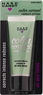 Hard Candy Color Correct Radiant Primer, #90856 Green, Correct Intense Redness, All Skin Types