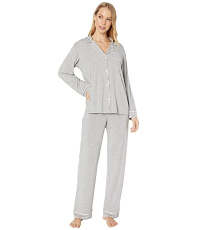 Eberjey Gisele Basics PJ Set (Heather Grey/Sorbet Pink) Women