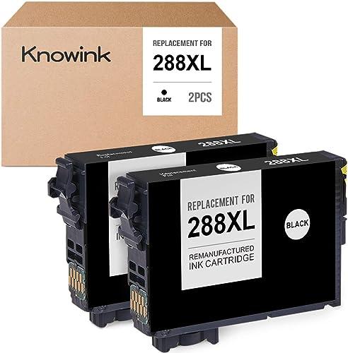 new arrival KNOWINK Remanufactured Ink Cartridge Replacement for Epson 288XL 288 XL for Expression Home XP-434 wholesale XP-430 XP-330 online sale XP-340 XP-446 XP-440 (2 Black) sale