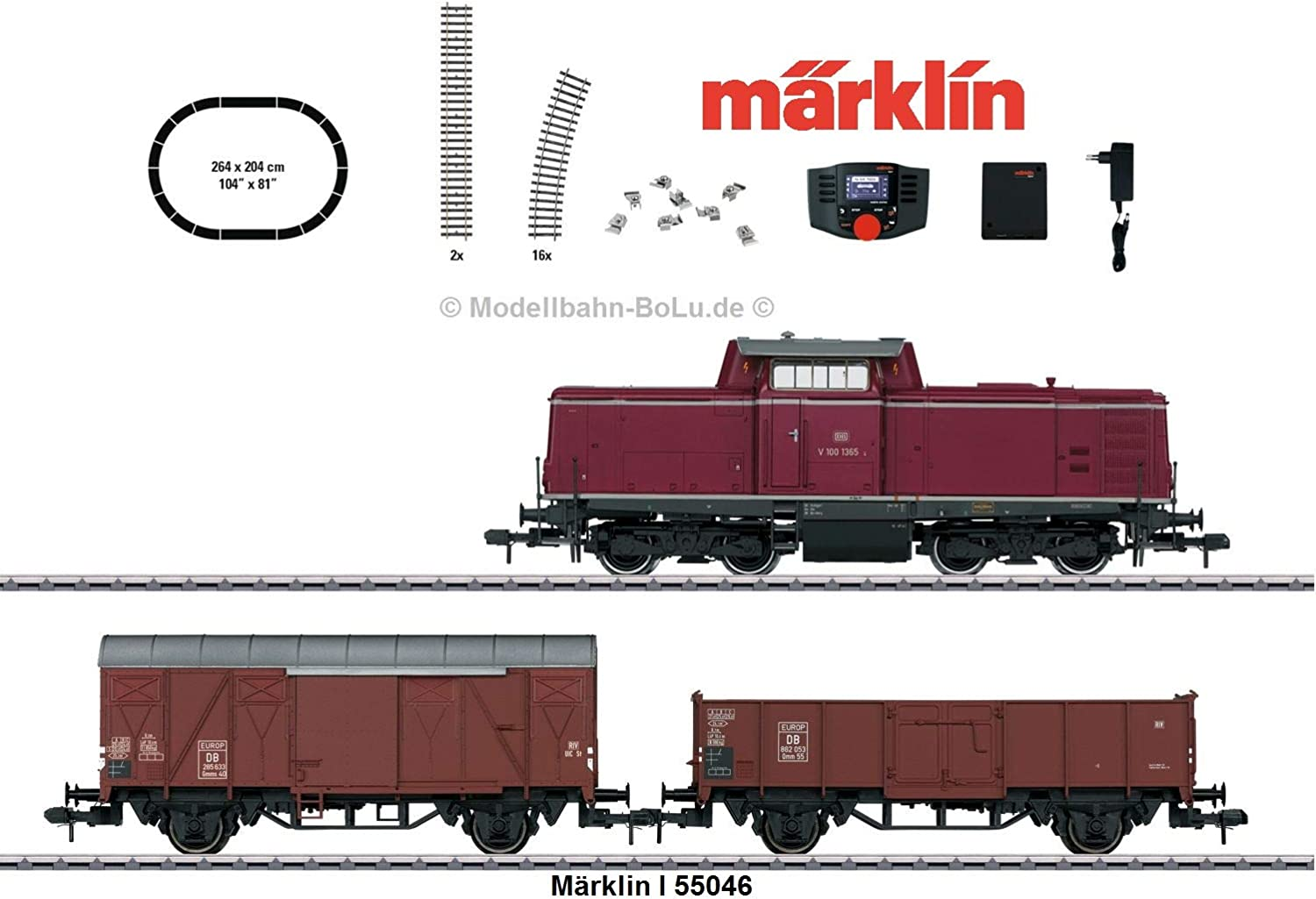 Marklin 55046 DB V100 Diesel Freight Digital Starter Set III (MFXSound)