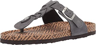 Muk Luks Women's Marsha Terra Turf-Dark Grey Sandal