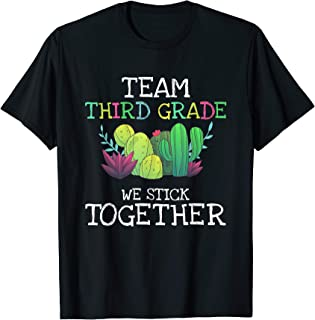 Team Third Grade Cactus Tee Shirt Back To School T-Shirt Gif