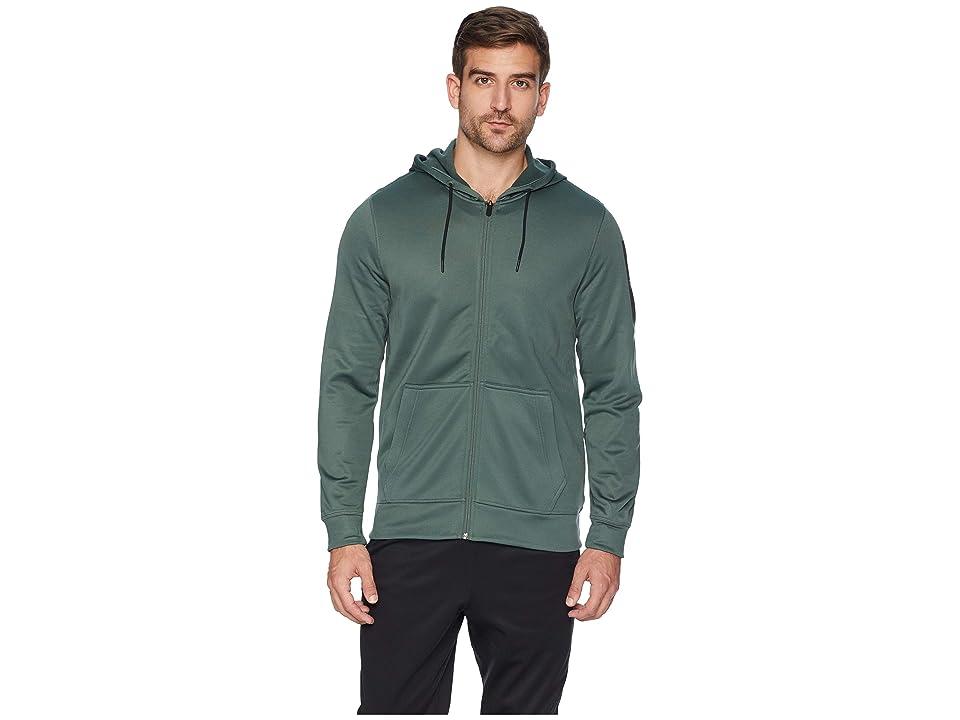 Reebok Workout Ready Poly Fleece Full Zip Hoodie (Chalk Green) Men