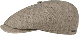 Stetson Hatteras Fine Herringbone Flat Cap Men - Made in The EU